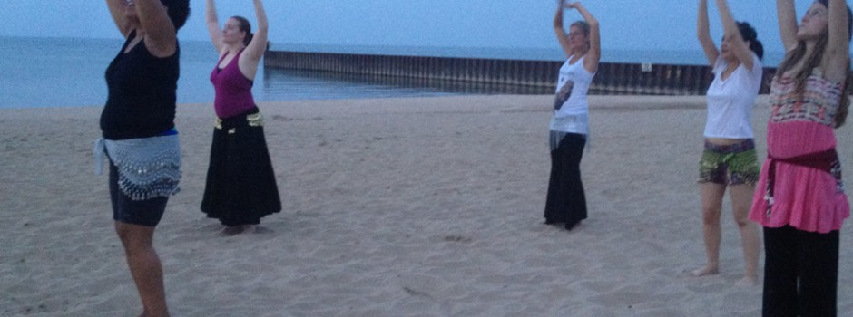 Bellydance BaseFusion™ on a Lake Michigan beach