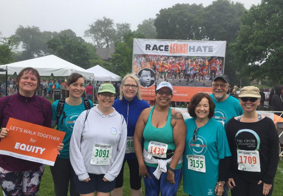 Hip Circle Race Against Hate Finishers