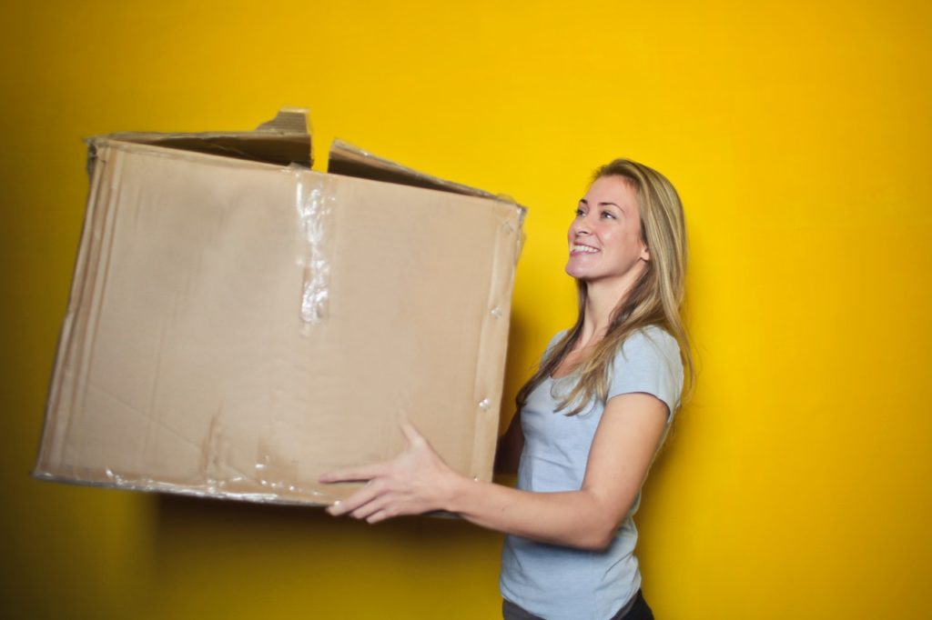 Picture of Woman with Moving Box